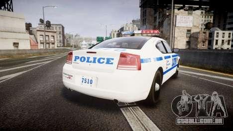 Dodge Charger LCPD para GTA 4 traseira esquerda vista