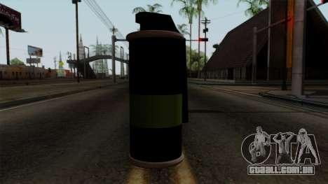 Original HD Tear Gas para GTA San Andreas terceira tela