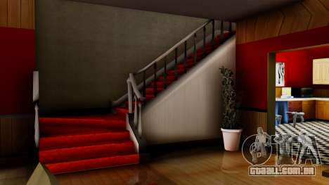 New CJs House para GTA San Andreas quinto tela