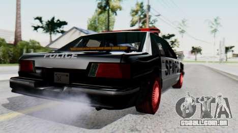 Police SF with Lightbars para GTA San Andreas esquerda vista