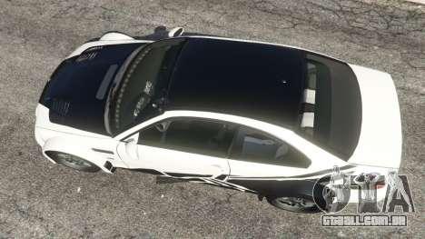 GTA 5 BMW M3 GTR E46 black on white voltar vista