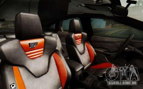 Ford Focus ST 2012 para GTA San Andreas vista traseira