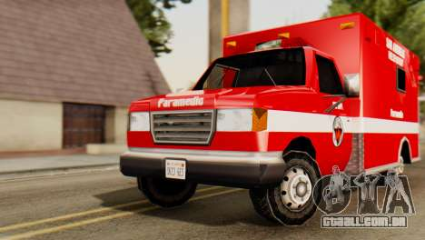SAFD Ambulance para GTA San Andreas vista direita