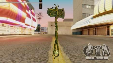Nature Axe para GTA San Andreas segunda tela