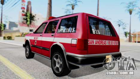 FDSA Fire SUV para GTA San Andreas esquerda vista