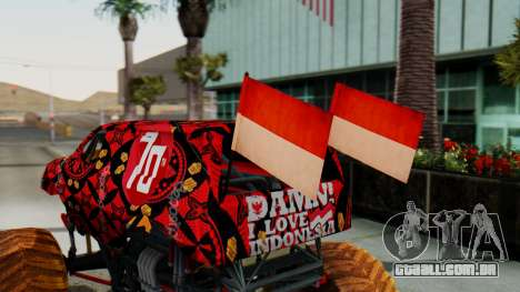 The Seventy Monster para GTA San Andreas vista traseira
