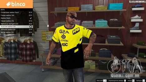 GTA 5 T-shirt para o Natus Vincere Franklin segundo screenshot