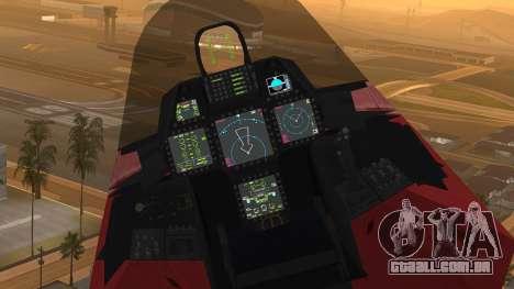 F-22 Raptor MARIO para GTA San Andreas vista direita