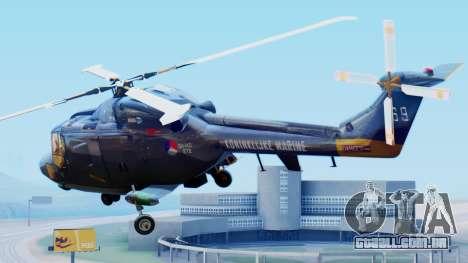 Westland SH-14D Lynx para GTA San Andreas esquerda vista