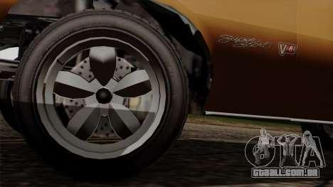 GTA 5 Declasse Vigero para GTA San Andreas vista traseira