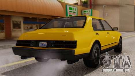 GTA 5 Albany Esperanto IVF para GTA San Andreas esquerda vista