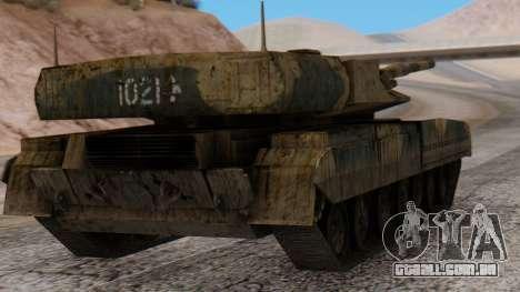 T-95 from Arctic Combat para GTA San Andreas esquerda vista