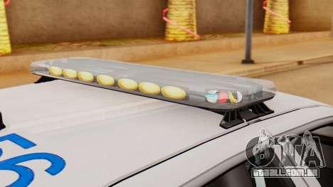 Police Ranger 2013 para GTA San Andreas vista traseira