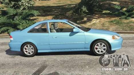 GTA 5 Honda Civic Si 1999 v1.1 vista lateral esquerda