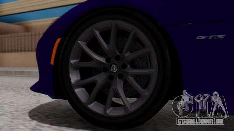 Dodge Viper SRT GTS 2013 HQLM (HQ PJ) para GTA San Andreas traseira esquerda vista