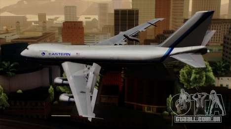 Boeing 747 Eastern para GTA San Andreas esquerda vista