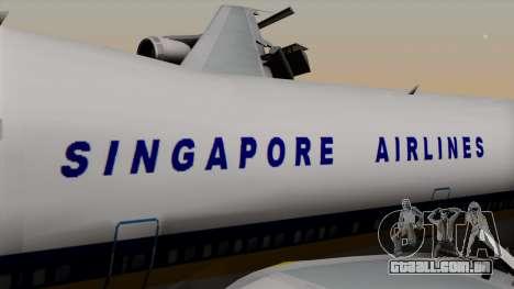 Boeing 747 Singapore (Old) para GTA San Andreas vista traseira