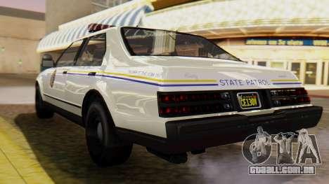 GTA 5 Albany Esperanto Police Roadcruiser para GTA San Andreas esquerda vista