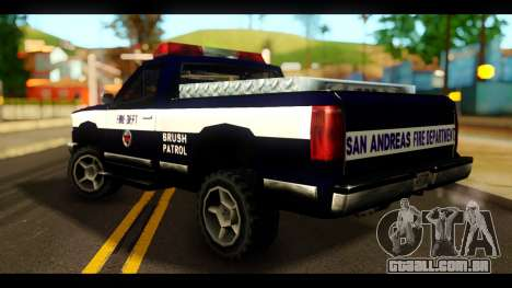FDSA Brush Patrol Car para GTA San Andreas esquerda vista