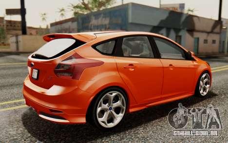 Ford Focus ST 2012 para GTA San Andreas traseira esquerda vista