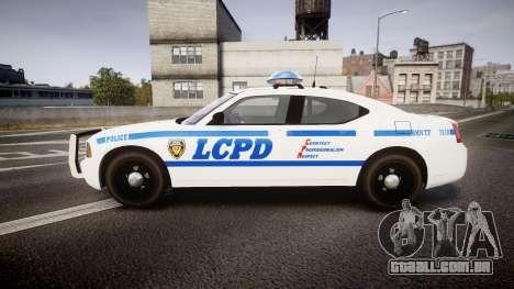 Dodge Charger LCPD para GTA 4 esquerda vista