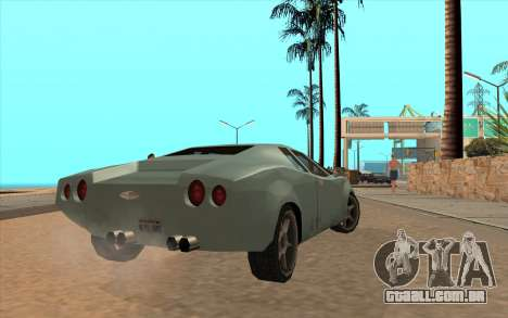 GTA VC Infernus SA Style para GTA San Andreas vista traseira