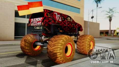 The Seventy Monster para GTA San Andreas esquerda vista