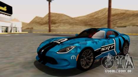 Dodge Viper SRT GTS 2013 HQLM (HQ PJ) para GTA San Andreas vista inferior