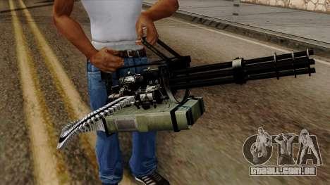 Original HD Minigun para GTA San Andreas terceira tela