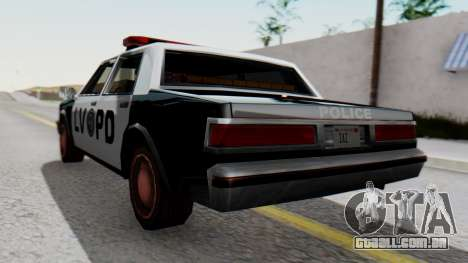 Police LV with Lightbars para GTA San Andreas esquerda vista