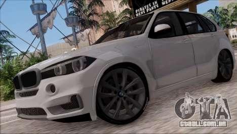 BMW X5 F15 BUFG Edition para GTA San Andreas esquerda vista