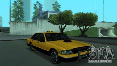 New Taxi para GTA San Andreas traseira esquerda vista