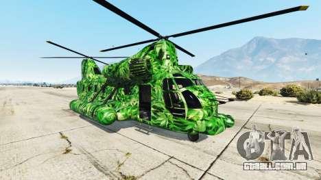 Western Company Cargobob Cannabis para GTA 5