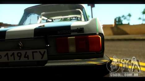 Moskvich 2140 Peklo (Inferno Equipe para GTA San Andreas vista traseira