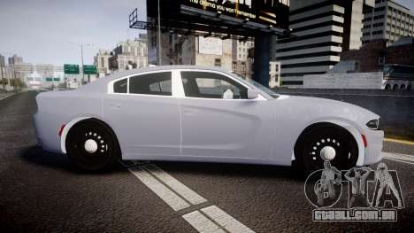 Dodge Charger 2015 Unmarked [ELS] para GTA 4 esquerda vista