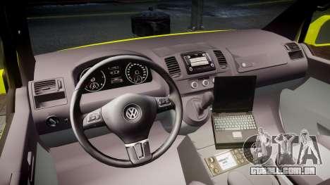 Volkswagen Transporter Norwegian Ambulance [ELS] para GTA 4 vista de volta