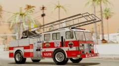SAFD Fire Lader Truck Flat Shadow
