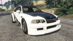 BMW M3 GTR E46 black on white