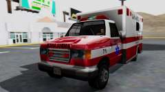 Ambulance with Lightbars para GTA San Andreas