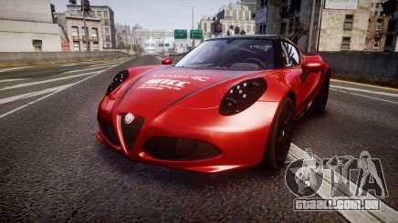 Alfa Romeo 4C 2014 WTCC Safety Car para GTA 4