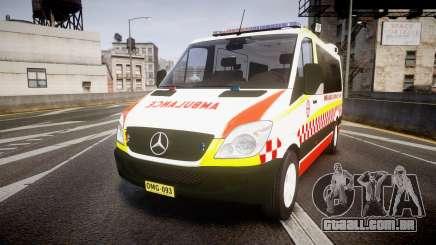 Mercedes-Benz Sprinter NSW Ambulance [ELS] para GTA 4