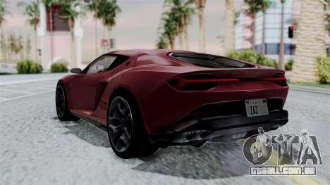 Lamborghini Asterion Concept 2015 v2 para GTA San Andreas esquerda vista
