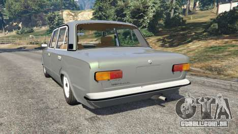 GTA 5 VAZ-2101 v0.1 traseira vista lateral esquerda