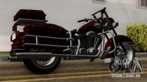 Classic Batik Motorcycle para GTA San Andreas esquerda vista
