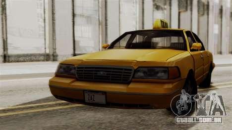 Ford Crown Victoria LP v2 Taxi para GTA San Andreas esquerda vista