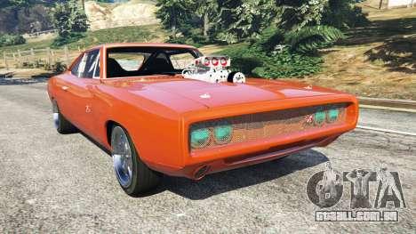 Dodge Charger 1970 Fast & Furious 7 para GTA 5