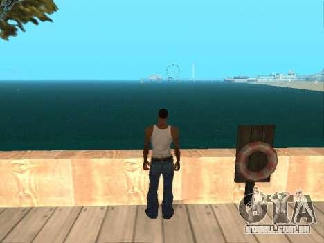 Verde escuro realista de água para GTA San Andreas por diante tela