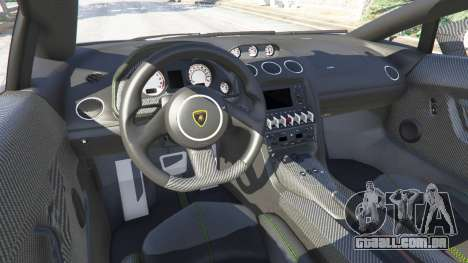 GTA 5 Lamborghini Gallardo LP 570-4 2011 Superleggera frente vista lateral direita