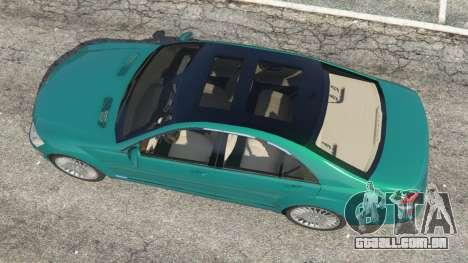 GTA 5 Mercedes-Benz S550 W221 v0.4.2 [Alpha] voltar vista