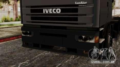 Iveco EuroStar Low Cab para GTA San Andreas vista interior